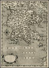 Balearic Islands and Greece Map By Giovanni Francesco Camocio