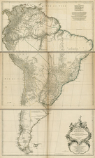 South America Map By Jean-Baptiste Bourguignon d'Anville