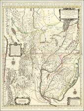 South America, Argentina, Brazil, Paraguay & Bolivia and Uruguay Map By Giovanni Petroschi