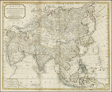 Asia and Asia Map By Thomas Kitchin