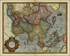 Asia and Asia Map By Gerhard Mercator