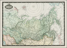 Polar Maps, Alaska, Russia, Central Asia & Caucasus and Russia in Asia Map By F.A. Garnier