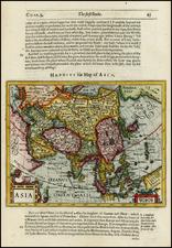 Asia, Asia, Australia & Oceania, Australia and Oceania Map By Jodocus Hondius / Samuel Purchas