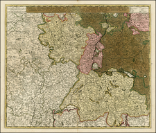 France and Germany Map By Nicolaes Visscher I