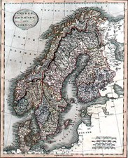 Europe and Scandinavia Map By John Cary