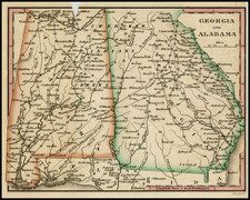 South and Southeast Map By William Darby