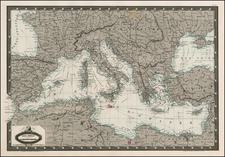 Europe, Europe and Mediterranean Map By F.A. Garnier