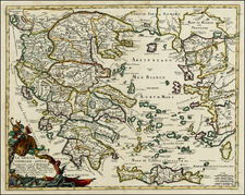 Balkans, Greece, Turkey, Balearic Islands and Turkey & Asia Minor Map By Giacomo Giovanni Rossi - Giacomo Cantelli da Vignola