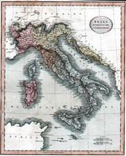Europe, Italy and Balearic Islands Map By John Cary