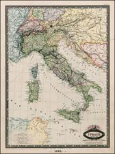 Italy Map By F.A. Garnier