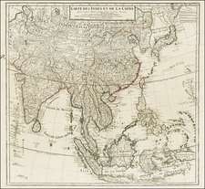 China, Japan, Korea, India, Southeast Asia, Philippines and Central Asia & Caucasus Map By Jean-Claude Dezauche