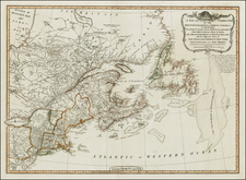New England and Canada Map By Laurie & Whittle