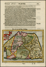 India and Other Islands Map By Jodocus Hondius / Samuel Purchas