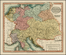 Europe, Germany, Austria and Baltic Countries Map By John Cary