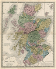 Scotland Map By Alexander Keith Johnston