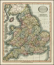 British Isles Map By John Cary
