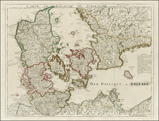 Scandinavia and Denmark Map By Philippe Buache