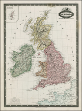 British Isles Map By F.A. Garnier