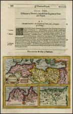 Mediterranean and North Africa Map By Jodocus Hondius / Samuel Purchas