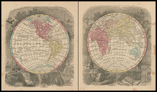 World and World Map By Sidney Morse  &  Samuel Gaston