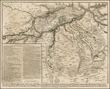 France and Italy Map By Paul de Rapin de Thoyras