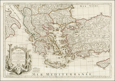 Turkey, Turkey & Asia Minor and Greece Map By Jean-Claude Dezauche