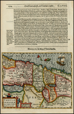 Middle East and Holy Land Map By Jodocus Hondius / Samuel Purchas