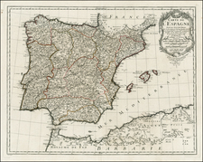 Spain and Portugal Map By Jean-Claude Dezauche