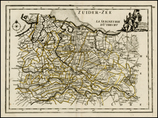 Netherlands Map By George Louis Le Rouge