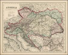 Austria Map By Joseph Hutchins Colton
