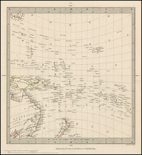 Hawaii, Australia, Oceania, New Zealand, Hawaii and Other Pacific Islands Map By SDUK
