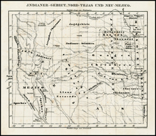 Texas, Plains and Southwest Map By Josiah Gregg