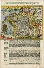 France Map By Jodocus Hondius / Samuel Purchas