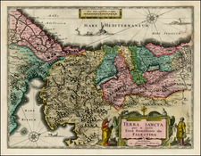 Holy Land Map By Willem Janszoon Blaeu