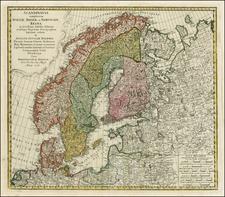 Baltic Countries and Scandinavia Map By Johann Baptist Homann