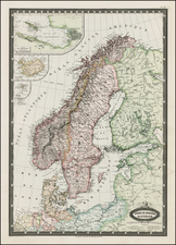 Scandinavia Map By F.A. Garnier