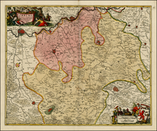 Netherlands Map By Nicolaes Visscher I