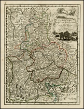 Germany Map By George Louis Le Rouge
