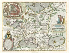 Europe, Poland, Russia, Baltic Countries, Asia, Central Asia & Caucasus and Russia in Asia Map By Willem Janszoon Blaeu