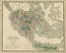 Balkans, Greece, Mediterranean and Balearic Islands Map By W. & A.K. Johnston