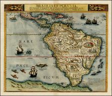 South America Map By Cornelis de Jode