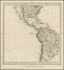 South America and America Map By SDUK