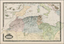 North Africa Map By F.A. Garnier