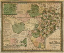 Texas and Southwest Map By Cowperthwait, Desilver & Butler