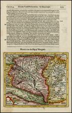 Hungary and Balkans Map By Jodocus Hondius / Samuel Purchas