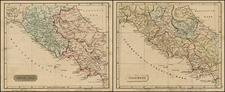 Italy Map By John Arrowsmith