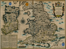 British Isles Map By John Speed