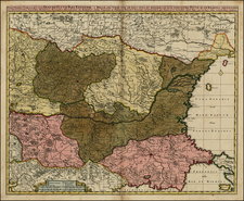 Ukraine, Romania, Balkans and Turkey Map By Nicolaes Visscher I