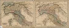 Italy and Balearic Islands Map By John Arrowsmith