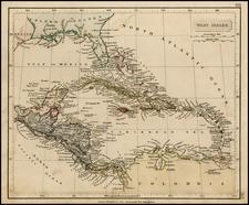 Caribbean Map By John Arrowsmith